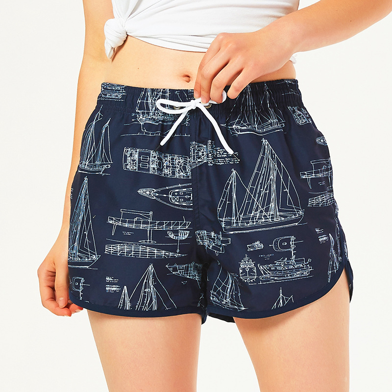 Summer Beach Shorts Quick-Drying Loose-Fit Seaside Holiday Short Couples Large Trunks Sports Women's Flower Shorts