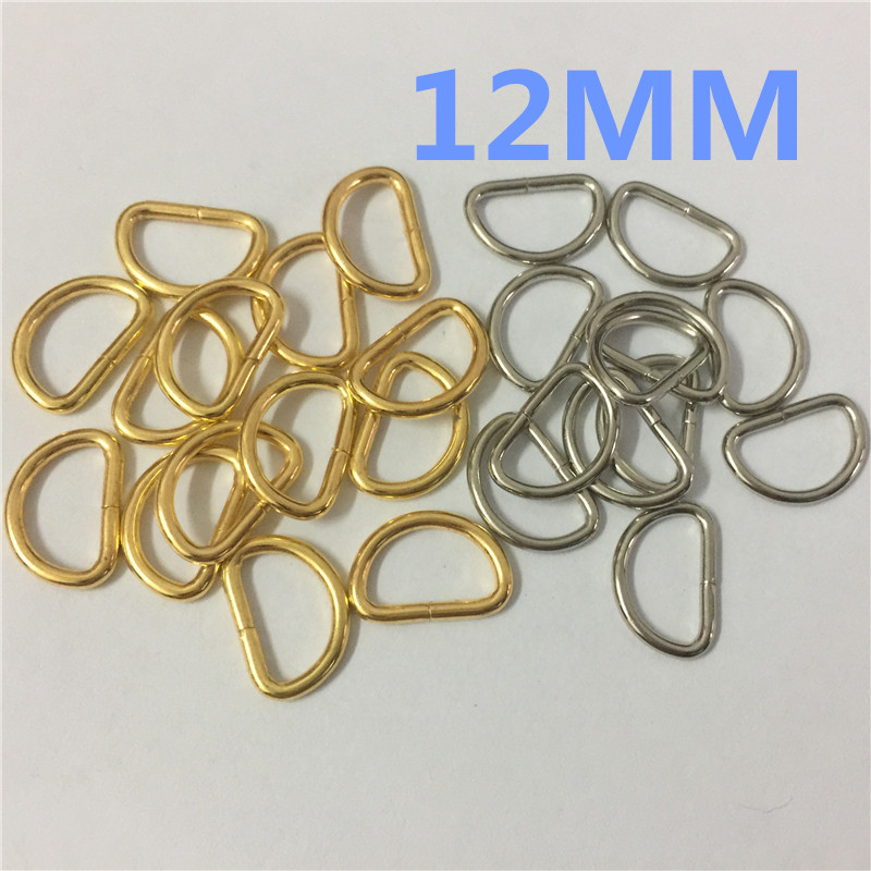 Fabric Straps Crafts HAND/® Pack of 25 Silver Tone Metal Oval Loop Rings for Webbing Ribbon Takes a Strap up to 14 mm Wide 16 x 9 mm Purses Bags