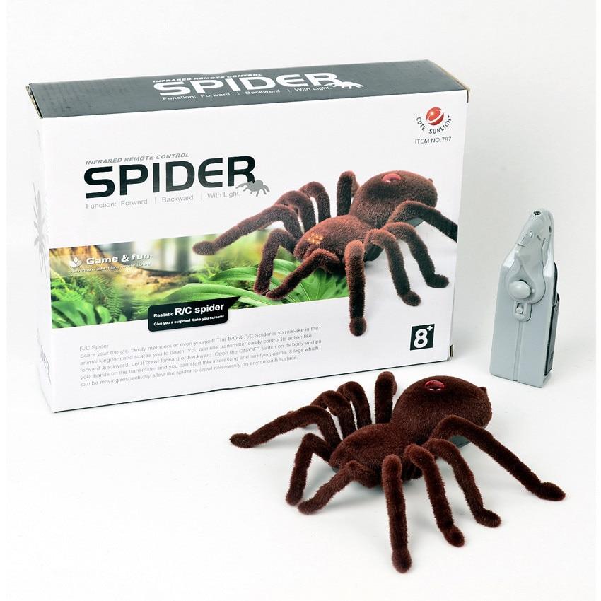engracado brincadeira truque brinquedo de controle remoto infravermelho flash aranha animal brinquedo eletronico animais de