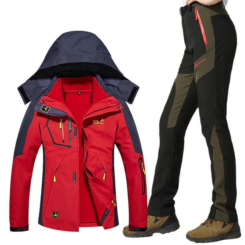 Women's Ski Suit Waterproof Windproof Ski Jackets Winter Thick Warm Skiing Snowboard Jacket Pants Female Snow Coat Outdoor Wear