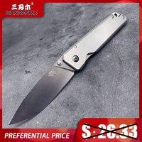 SANRENMU 7096 Tasche Klapp Messer Camping Überleben Edc Rettungs Überleben Werkzeug 12C27 Edelstahl Klinge