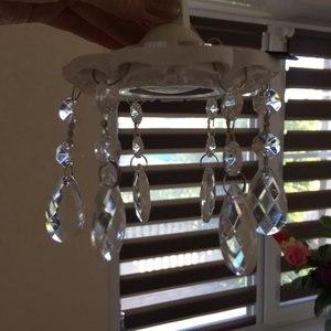 Image 5 - 60 문자열 11cm 아크릴 크리스탈 비즈 커튼 샹들리에 갈 랜드 펜 던 트 상품 결혼식 파티 장식 크리스마스 트리 장식
