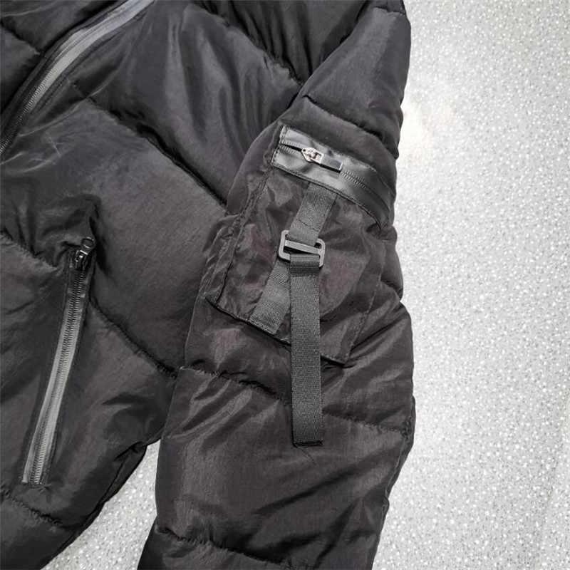 GYMOHYEAH NEUE winter jacke männer Neue warme Winddicht Casual Oberbekleidung Gepolsterte Baumwolle Mantel Große Taschen Hohe Qualität Parkas Männer