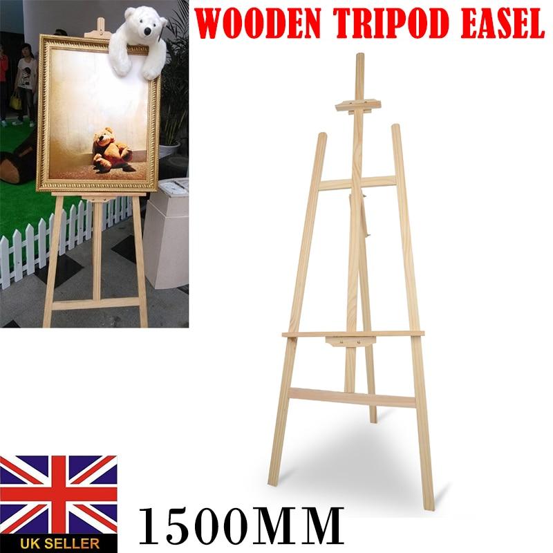 150 Cm Houten Tafel Schildersezel Voor Kunstenaar Schildersezel Schilderen Craft Houten Stand Voor Party Decoratie Art Supplies Display Plank Houder