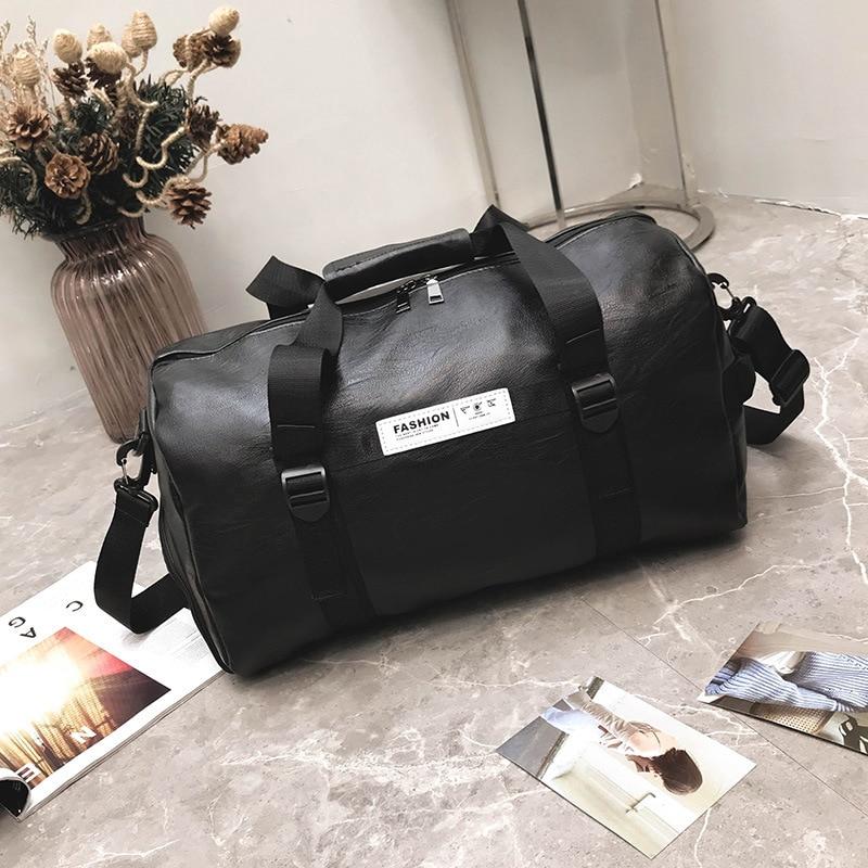 Bolsa de viaje para hombre PU zapatos independientes impermeables bolsa de fitness para mujer ejercicio de yoga - 5