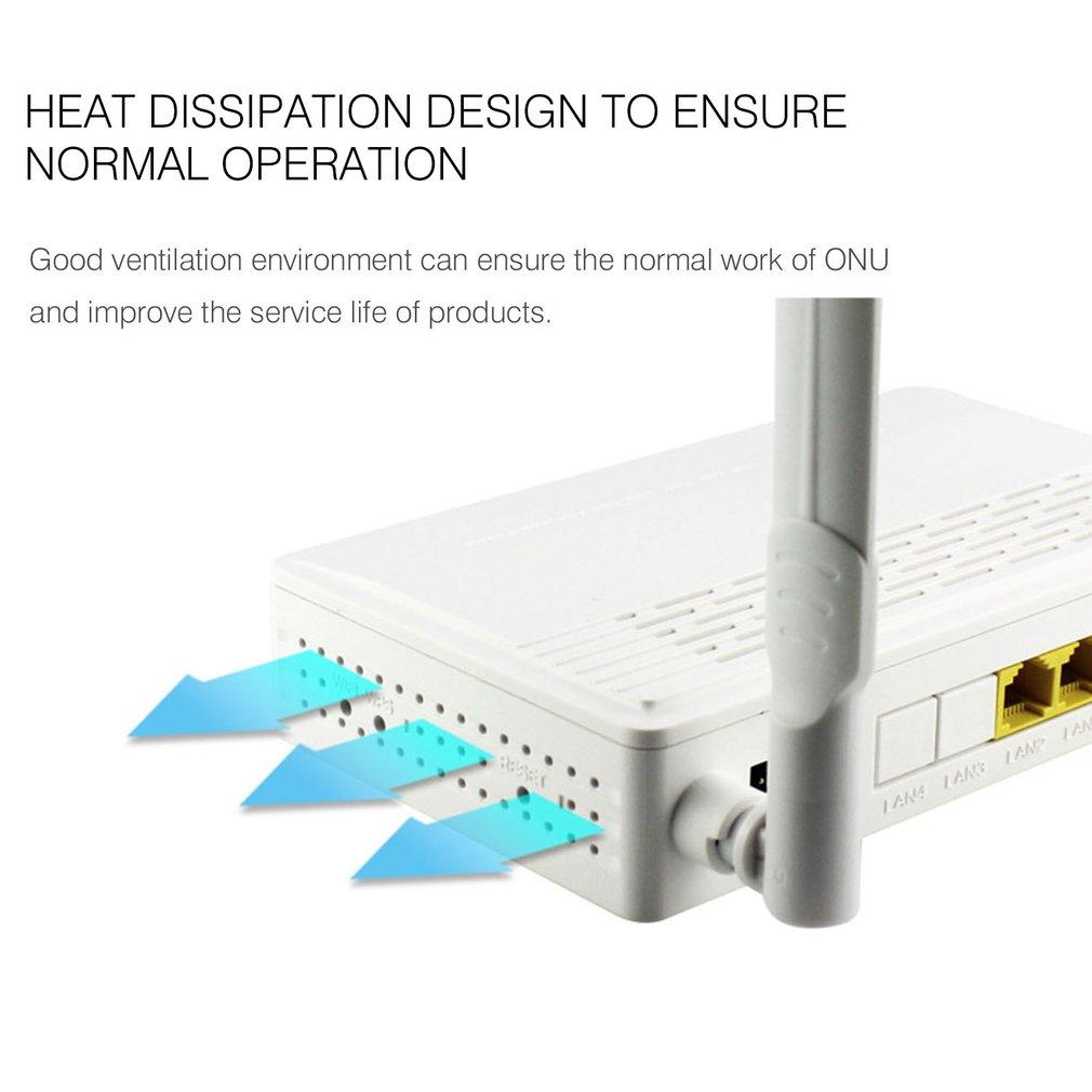 Two-port EPON ONU Terminal With 1G1F+WIFI Video Surveillance NetworkTo FTTH Mode Mini Fiber Optic Modem Router Firmware EU plue 4