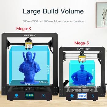 ANYCUBIC I3 Mega /S / X / Zero 3D Printer Full Metal Plus Size Desktop Frame Impresora 3D Drucker DIY Kit Gadget Extruder 2
