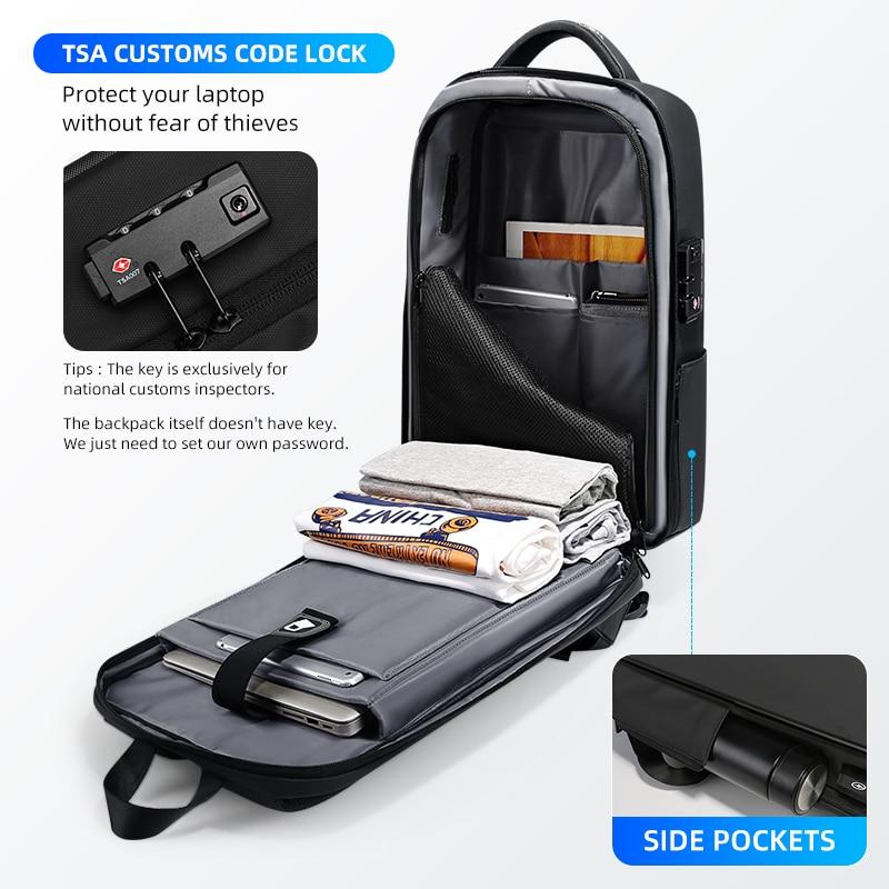 Fenruien Brand Laptop Backpack Anti-theft Waterproof School Backpacks USB Charging Men Business Travel Bag Backpack New Design 6
