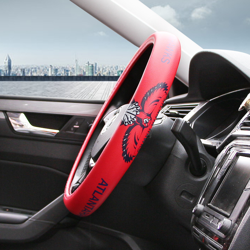 New Style NBA Eagle Team Steering Wheel Cover Environmentally Friendly PU Leather Fashion Athletic Steering Wheel Cover image
