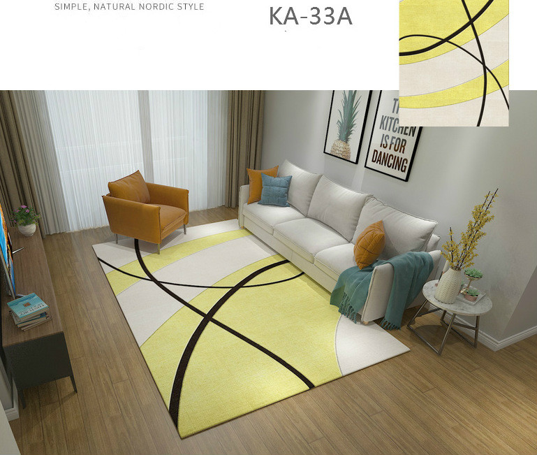 Moderno e minimalista sala de estar tapete