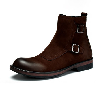high-top Chelsea boots mens dress boots High Quality Genuine Leather autumn winter British retro men shoes all-match cowhide short boots men winter high top high quality genuine leather shoes mens dress boots cowhide desert boots men military boots