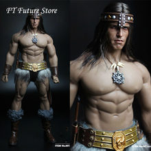 In Stock MT2018-02 1/6 Male Soldier Conan Head Carving Costume Group Ano Edition Model for 12'' Action Figure M35 Body Fans Gift(China)
