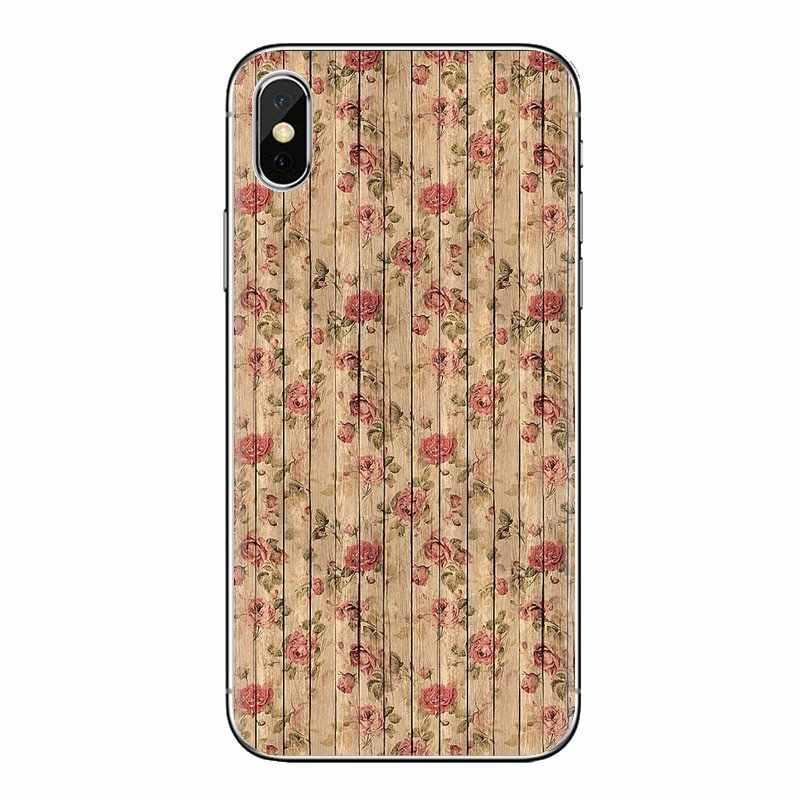 Para Xiaomi Mi3 Samsung A10 A30 A40 A50 A60 A70 Galaxy S2 nota 2 gran Core Prime de madera Mandala de la flor cubierta transparente de TPU