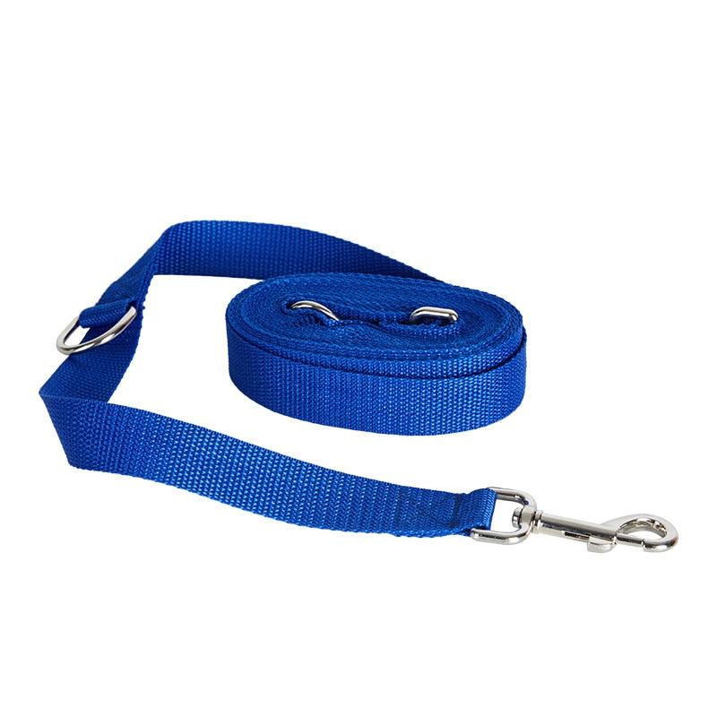 Pet Supplies Dog Leash Double Hook Traction Rope Running Belt Rope Adjustable Waist Imitation Nylon Leash Stainless Steel Hook
