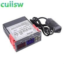 Controlador duplo ac STC-3028 v 110 v 10a do higrômetro do termômetro do controle de umidade da temperatura 220 do termostato de digitas