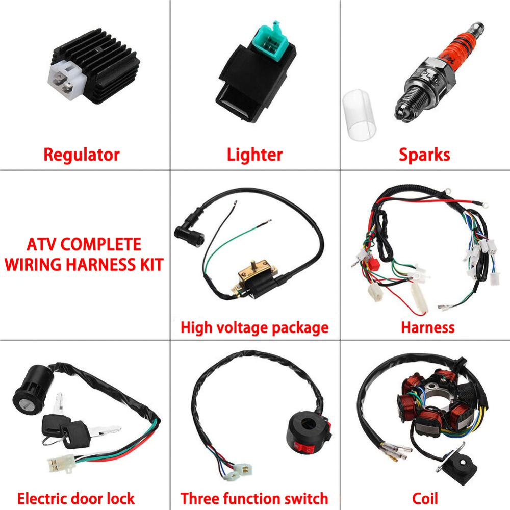 50cc 70cc 90cc 110cc 125cc Dirt Bike ATV QUAD ELECTRICS Zongshen Lifan Ducar Razor CDI Wire Harness Stator Assembly Wiring