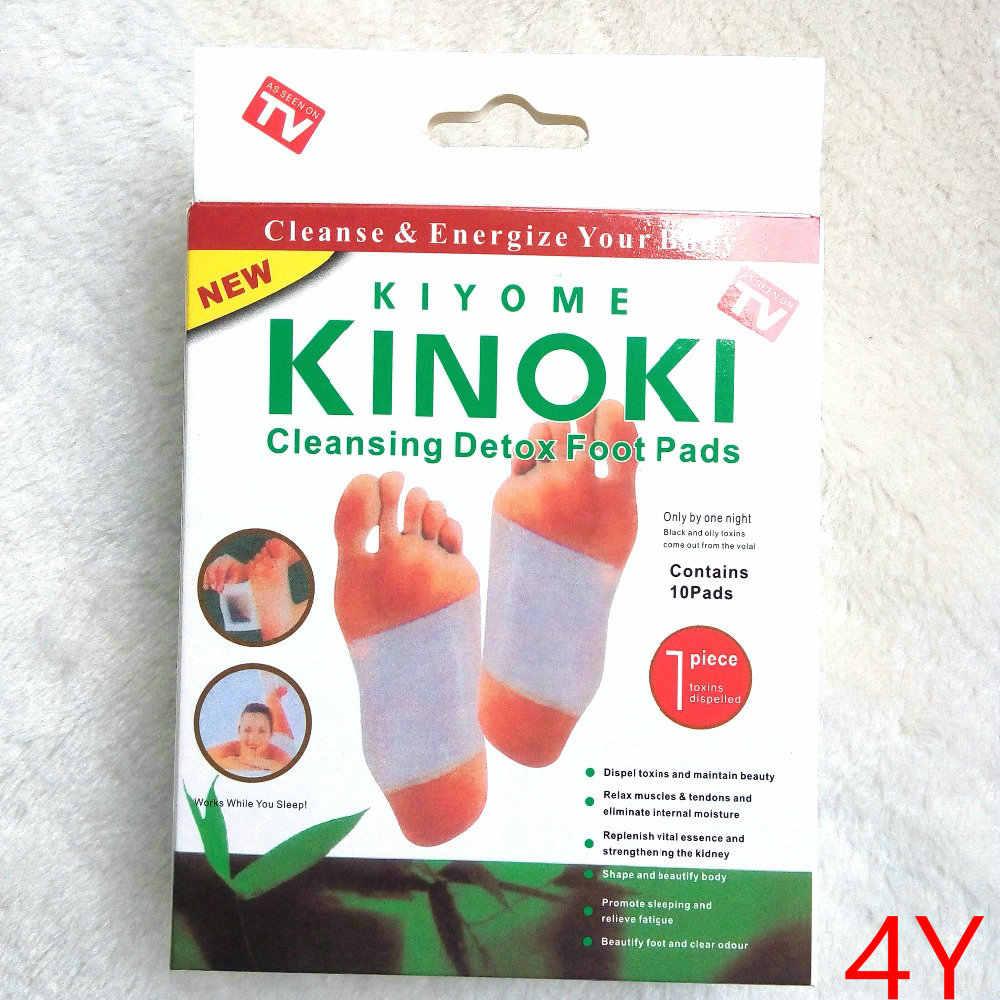 Vendita al dettaglio di 6 Scatole Dropship 4Y Pulizia Kinoki Rilievi Del Piede Del Detox Cleanse Energize Il Tuo Corpo (1 lotto = 6 Scatola = 60pcs Toppe e Stemmi + 60pcs Adesivo)