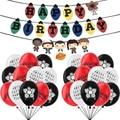 1 Набор из сериала очень странные шары ТВ Show вентиляторы баннеры детская День Рождения флаг Baby Shower аксессуары для мальчиков и девочек, возду...