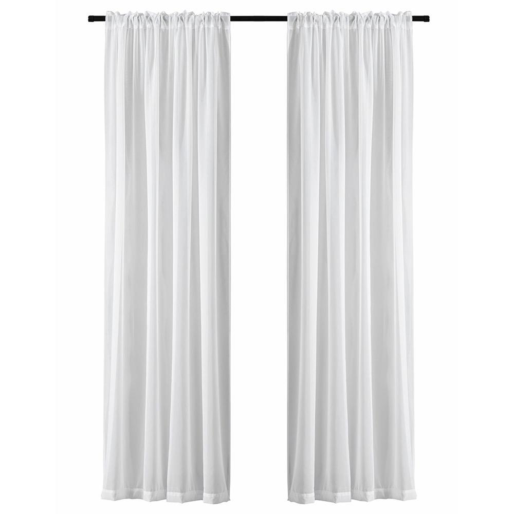 Soild White Window Screening Curtains For Living Room The Bedroom Modern Tulle Sheer Curtains Drapes Fabric Blinds Custom Made