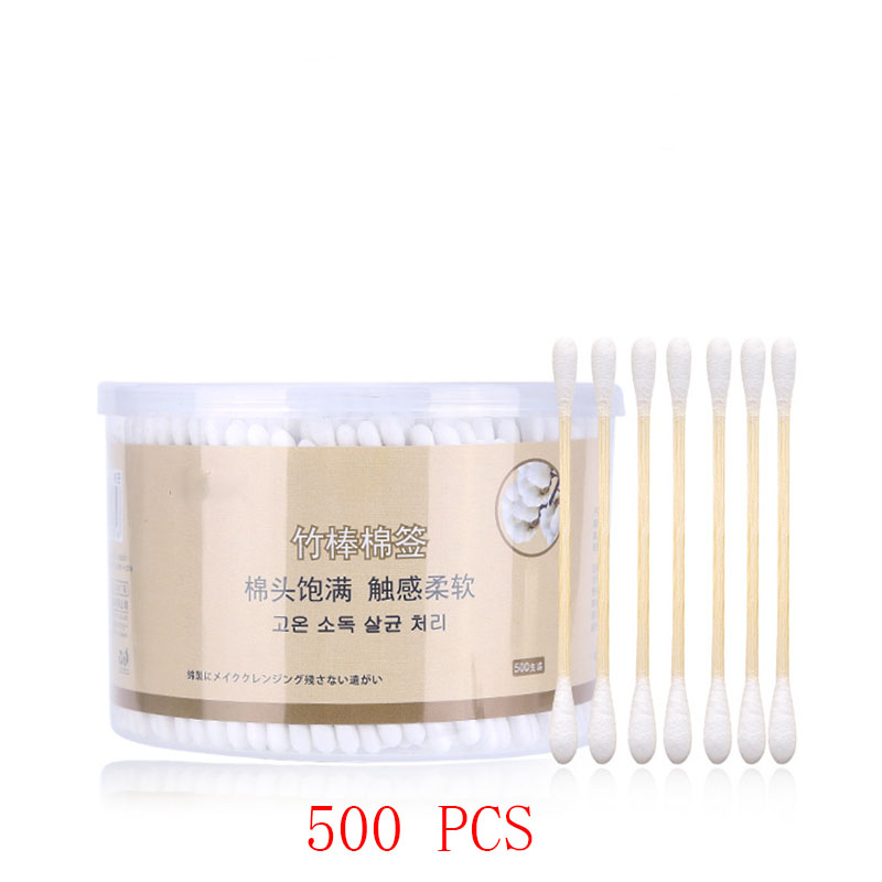 High Quality Makeup Cotton Swabs Disposable Cotton Swabs For Earplugs Swabs Medical Cotton Swabs Double-head Boxed 500 PCS