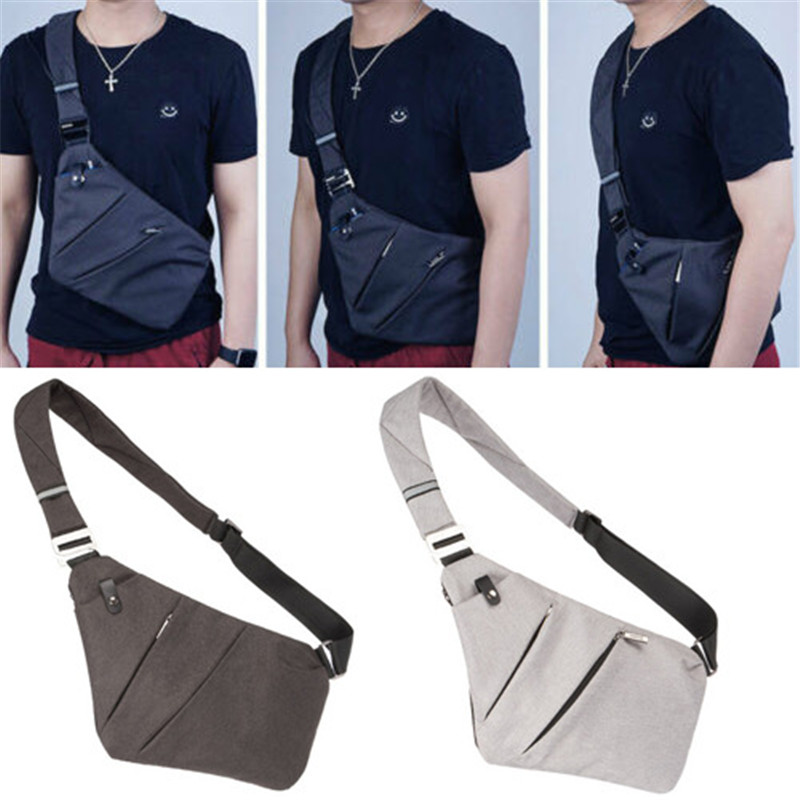 Brand New Men Anti-Theft Travel Chest Bag Camping Sling Cross-Body Shoulder Bag Pack Sports Waist Bags 2 Colors Messenger Bags