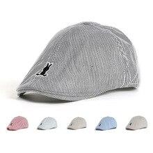 Girl Hats Sun-Baseball Children Summer Beret-Hat Toddler Infant Baby Cotton Cute Striped