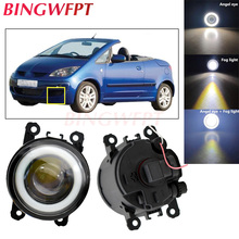 2pcs NEW Car styling Angel Eyes front bumper LED fog Lights with len For Mitsubishi Colt CZC Convertible (RG) 2006-2009