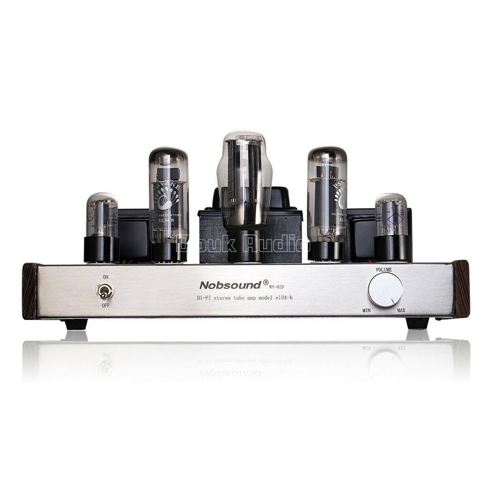Douk audio Updated 6N9P Push EL34 Valve Tube Amplifier Pure Handmade Scaffolding Hi Fi Stereo Class A Power AMP - 4