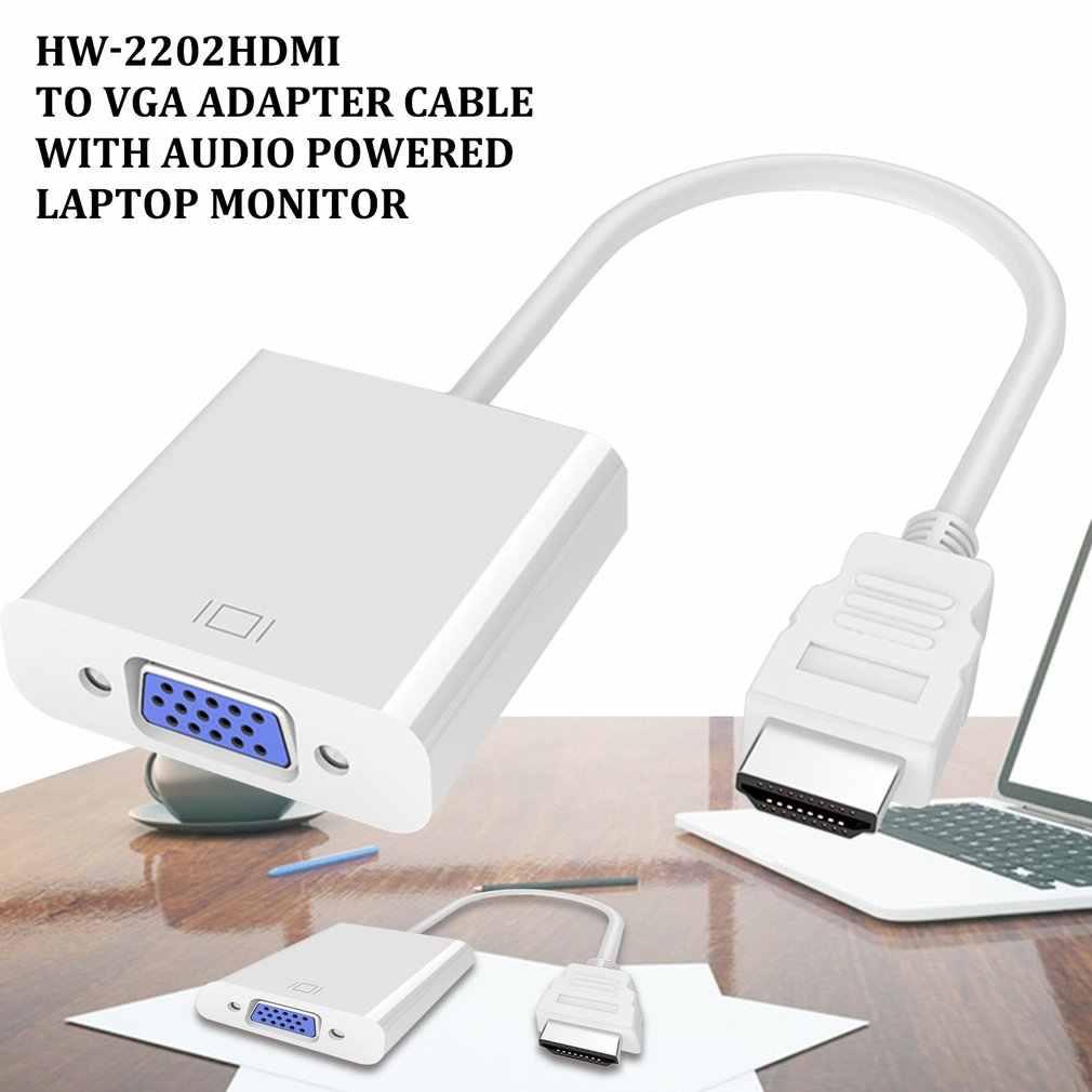 Adapter hdmi do vga zasilany przez Audio Adapter konwertera męskiego na Famale 1080P cyfrowy na analogowy dźwięk wideo na Tablet PC