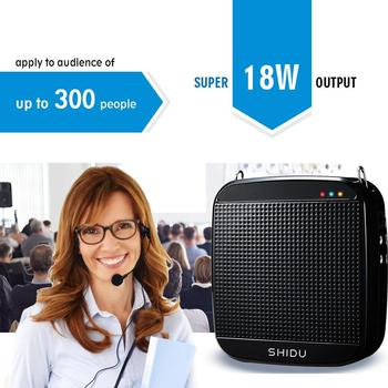 Voice amplifier High quality portable UHF wireless 18W Voice Amplifier Portable Rechargeable voice amplifier