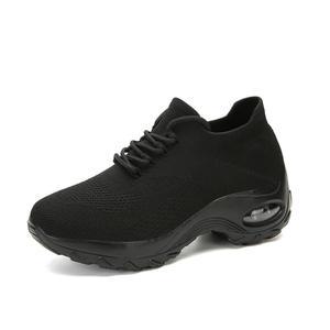 Image 2 - MWYแฟชั่นรองเท้าผ้าใบบินทอรองเท้าสบายๆผู้หญิงกลางแจ้งBreathable Trainers Zapatillas De Mujer Wedgesรองเท้า