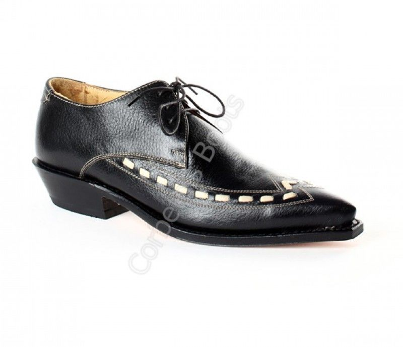 Sendra Mens Black  Pu Leather Shoes Lace Up Casual Shoes Dress Shoes Brogue Shoes Vintage Classic Male Casual F282