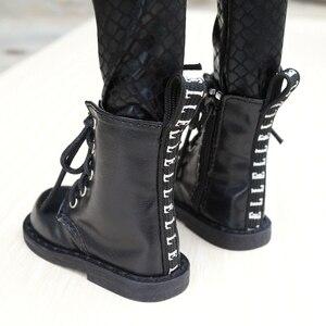 "Image 2 - נעלי BJD שחור מגפי נעלי Flates עבור 1/3 24 ""גבוה זכר BJD בובת SD DK DZ AOD DD בובה משלוח חינם HEDUOEP"