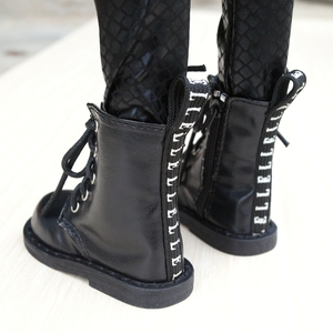 """Image 2 - BJD SHOES Black Boots Shoes Flates For 1/3 24"""" Tall Male BJD doll SD DK DZ AOD DD Doll Free shipping HEDUOEP"""