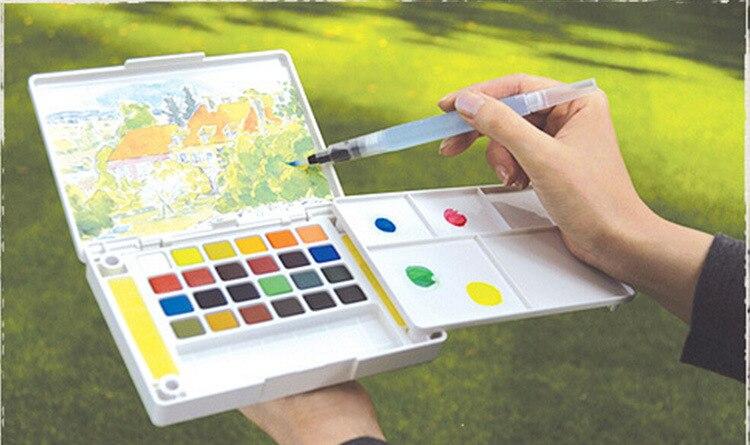 escova conjunto recarregável aquarela pincel caneta tinta