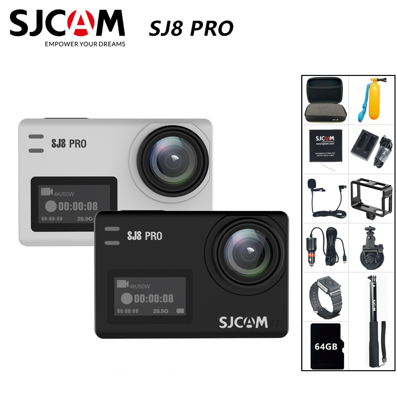 SJCAM SJ8 Pro Action Camera 4K 60FPS WiFi Remote Helmet Camera Ambarella Chipset 4K@60FPS Ultra HD Extreme Sports DV Camera|Sports & Action Video Camera|   - AliExpress