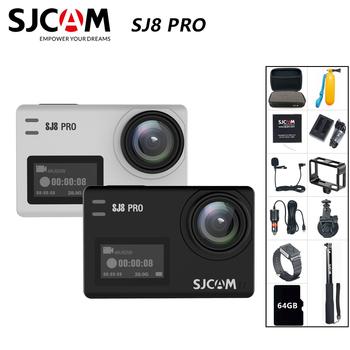 SJCAM SJ8 Pro kamera akcji 4K 60FPS pilot wifi kamera na kask Chipset Ambarella 4K @ 60FPS ultra hd sportów ekstremalnych aparat dv tanie i dobre opinie SONY IMX377 (1 2 3 12 MP) Ambarella H2 (4 K 60FPS) O 12MP 1200 mAh 1 2 8 cali Sporty ekstremalne Początkujący Dla Domu