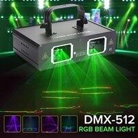 Luz led 2 lente rgb AC110 240V eua plug feixe de laser dmx manualfor dj festa clube bar mostrar efeito iluminação lâmpada|Efeito de Iluminação de palco| |  -
