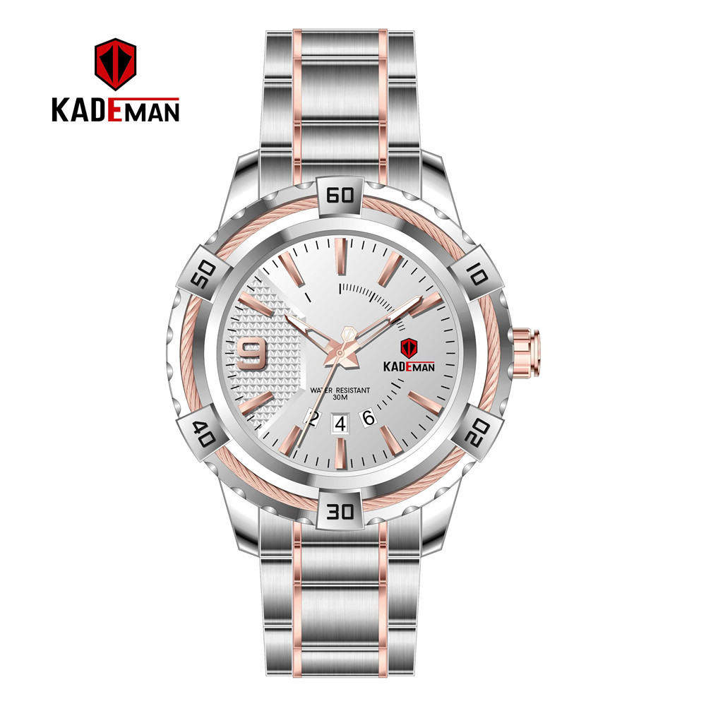 Image 3 - KD6173L Top Luxury Brand Kademan New Womens Business Watch Full Steel Strap Fashion Lady Quartz Calendar Wristwatch WaterproofWomens Watches   -