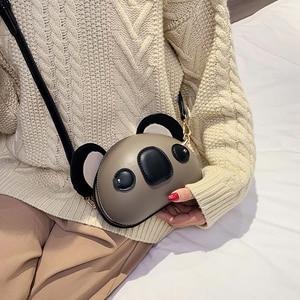 Image 3 - Fashion and Cute Koala Design Pu Leather Female Purses and Handbags Shoulder Bag Crossbody Mini Bag Women Clutch Bag Pouch