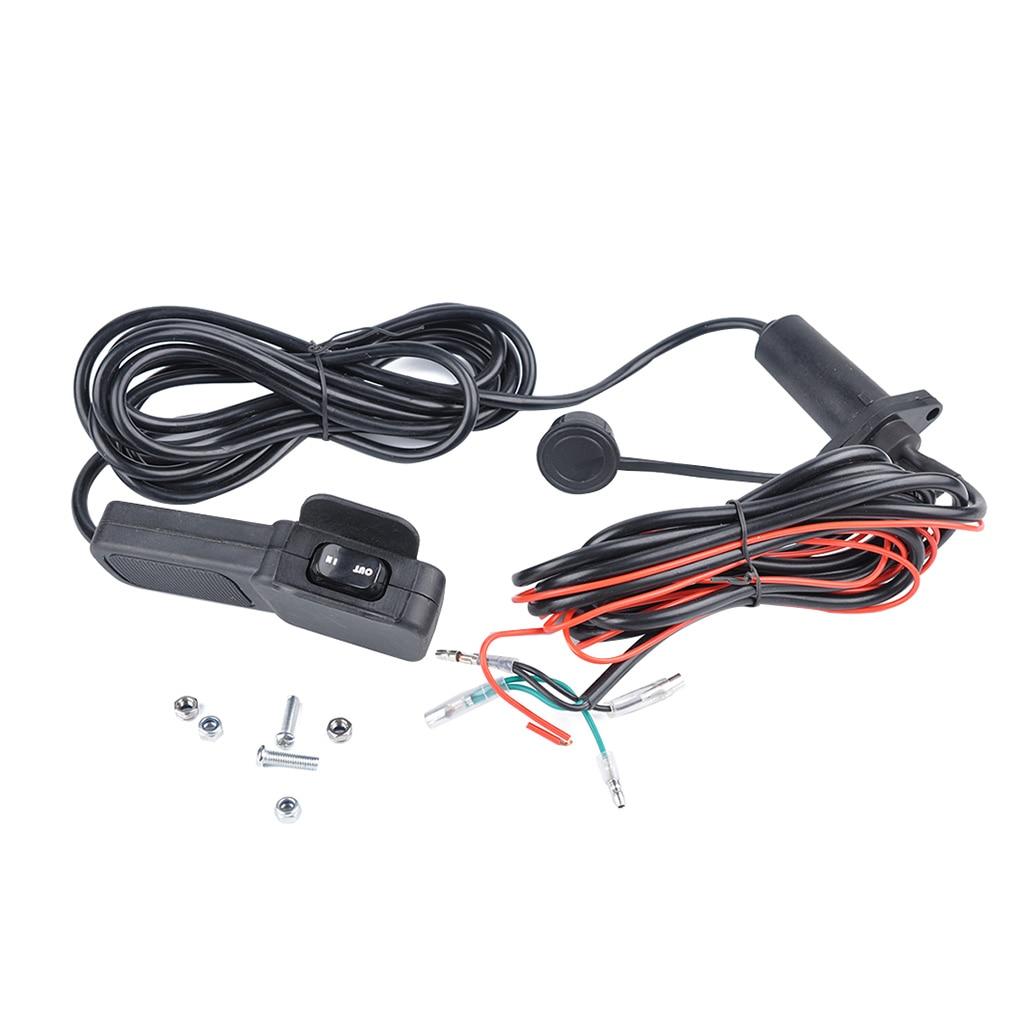 Универсальный 3 м 12-24 В Лебедка для ATV UTV проводной пульт дистанционного управления кулисный переключатель Руль управления линия