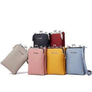 Image 2 - Neue Bunte Kleine Handy Tasche Weibliche Mode Täglichen Gebrauch Schulter Taschen Frauen Leder Mini Umhängetasche Messenger Tasche Damen Geldbörse