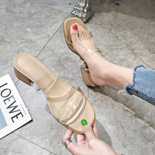 Sandals Fashion Clear-Heels Womens Shoes Transparent Ladies Spring