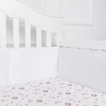 1 комплект = 4 шт. воздухопроницаемые хлопковые Бамперы для кроватки, бамперы для кроватки, моющиеся Мягкие накладки для кроватки, комплект для маленьких мальчиков и девочек, безопасный бампер