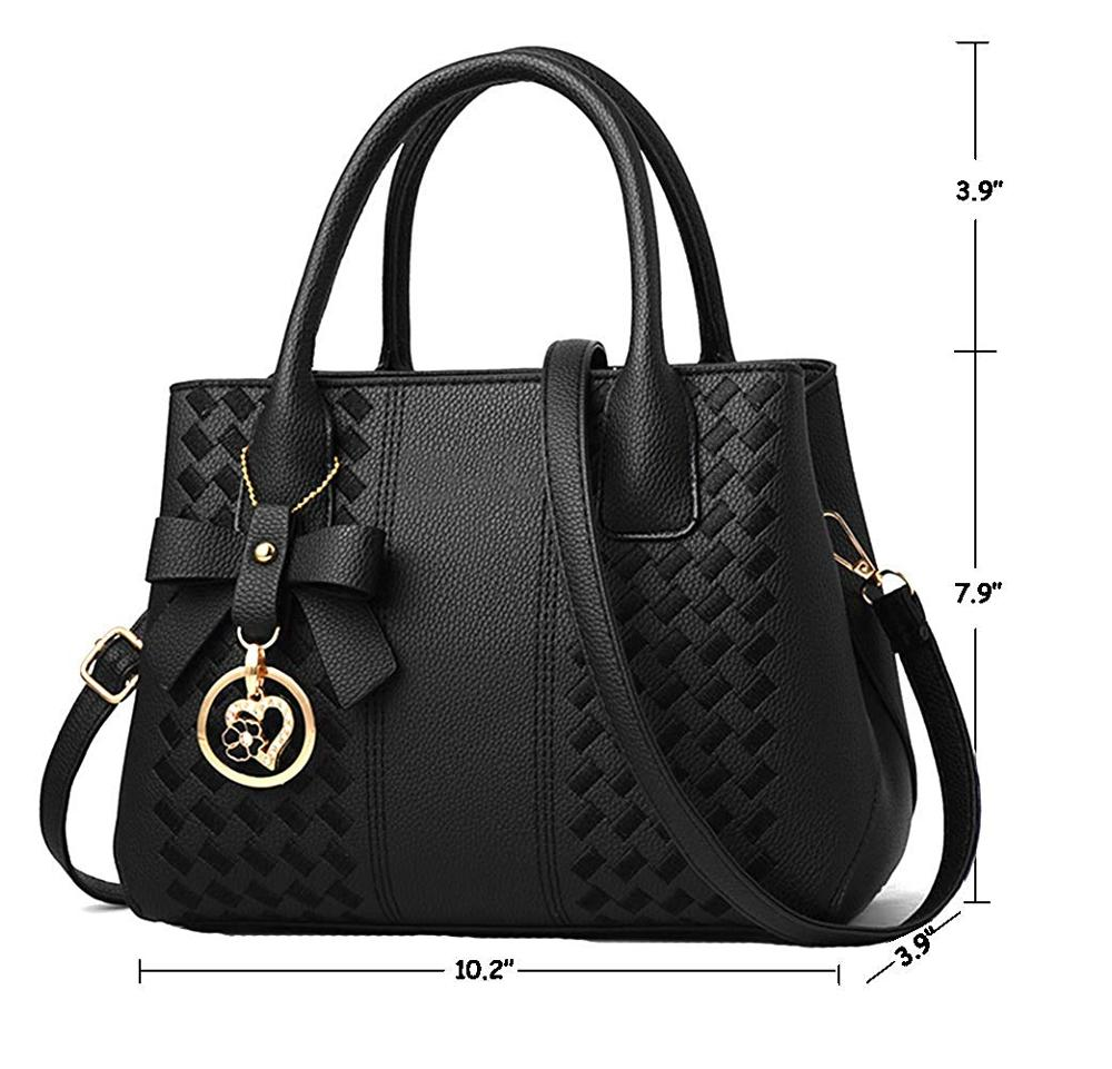 Purses and Handbags for Women Fashion Ladies PU Leather Top Handle Satchel Shoulder Tote Bags 1