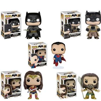 цена на Funko Pop Justice League DC Toys Batman Super Heroes 10CM PVC Action Figures Brinquedos Collection Model Kids Toys Gifts F83