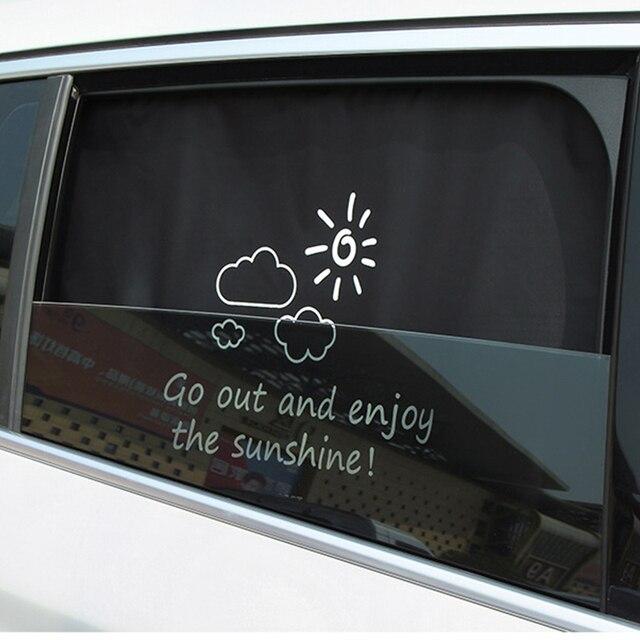 Cortina de carro Auto Toldo Cortina Da Janela blinds Caricatura Tampa Do Carro Magnético Protetor de Pala de Sol para o Bebê Crianças Bonito Universal