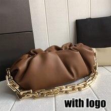 Marca de luxo mulheres nuvem saco grosso corrente nuvem saco retro underarm saco designer feminino bolinho bolsa couro embreagem handb