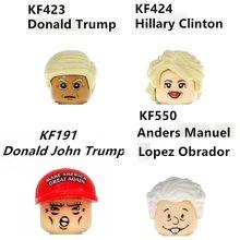 Звезда знаменитостей, Мексика, США, президент, избранный, Хиллари Трамп, Obrador блоки, мини-фигурки, игрушечные мини-фигурки