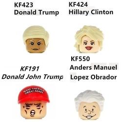 Estrela da celebridade méxico eua presidente candidato hillary trump obrador blocos mini figura brinquedos